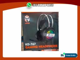 Headset Gamer P2-Usb c/ Microfone e LED Kaidi KD-767