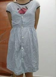 vestido de listra