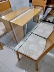 Jogo de Mesa de 6 cadeiras 1.60x0.90