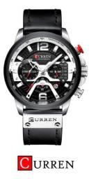 Relógio De Luxo Masculino Curren 8329 Original Pulseira Em Couro