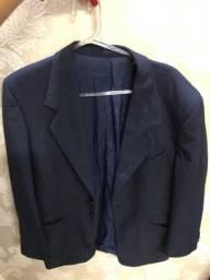 Bläzer masculino, azul, tamanho 48 médio