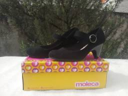 Sapato Moleca Camurça Flex 36