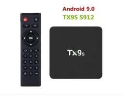 Tv box de qualidade TX9S Yourotec  padrão 4K 16GB com RAM de 2GB
