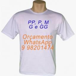 Camisetas 100% poliéster, cor branca, promoção incrível, fabricação própria