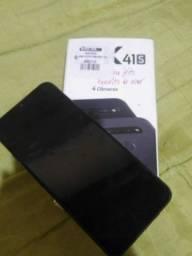 Smartphone LG K41S - 4 câmeras, Bateria de 4.000 mAh, Memória de 3GB/32GB, Tela 6.5'' HD+