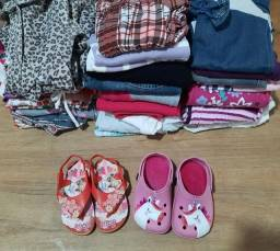 Lote roupas menina tamanho 2 a 3 anos
