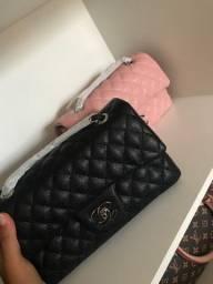 Bolsa Chanel flap couro