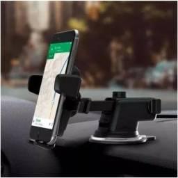Título do anúncio: Suporte Celular GPS Carro Resistente Firme Haste Ajuste Prolongável Rotação 360