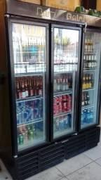 Refrigerador Cervejeira 1180 Litros 3 Portas Preto, Gelopar. Muito Nova
