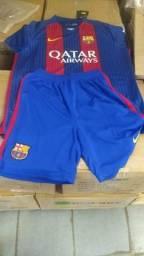 Conjunto camisa e shot do Barcelona original be2f8b1eae606