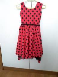 Vestido lady bug R$80