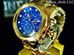 0ab3aea3608 Relogio invicta venom dourado com fundo azul