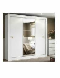 Guarda-Roupa Casal 3 Portas Madesa-city 1056-1 E Com Espelho