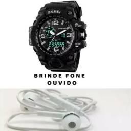 Relógio Skmei 1155 Prova D água Original+ Brinde Fone Ouvido 3f0702990c8