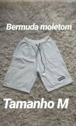 Bermuda moletom tam M