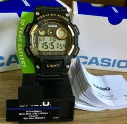 2835aeb52a4 Relógio Digital Casio Masculino Vibration Alarm Novo Original (Aceito  Cartão)