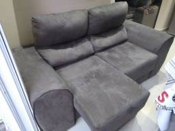 Sofá retrátil e reclinável semi novo