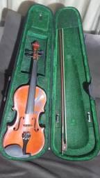 Violino Novo + Case (Capa resistente a impacto)