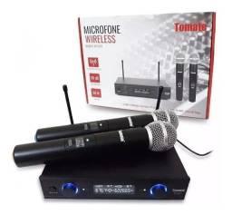 Microfone Duplo Sem Fio mt-2207 P/ Teatro Locuções Escolas