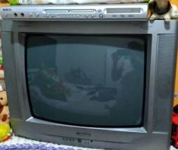 Vendo os dois, DVD cce e TV Mitsubishi