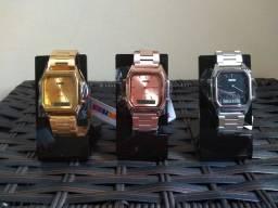 Relógios Skmei Unissex Modelo Retrô 1220! Disponíveis três cores!!!