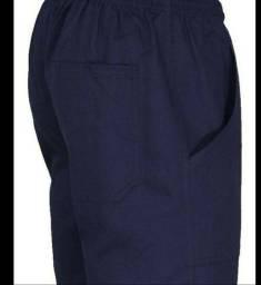 Calça em brim cor marinho para uniforme