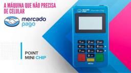 Maquina de Cartão Mini Chip Mercado Pago Pronta Entrega Não Precisa de Celular