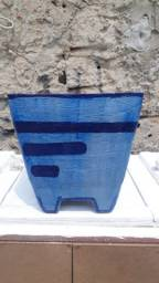 Vaso de cimento decorado