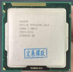 Processador Intel g860 de 3.0ghz Socket 1155 p/desktop computador usado aceito cartão