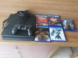 PS4 slim com jogos