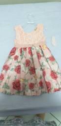 Vestido infantil com perolas tamanho 2