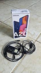 Caixa do Samsung A20s + Acessórios
