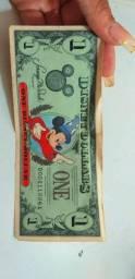Nota rara One dollar Walt Disney 1987
