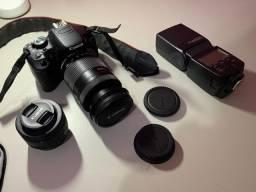 Câmera Dslr Rebel T4i + 2 Lentes + Bolsa + 2 Baterias + Carregador pilhas