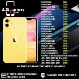 IPhones em até 8x no cartão ou boleto bancário