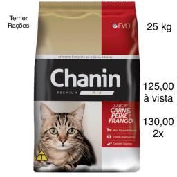 Ração Chanin Mix Premium Carne, Peixe e Frango 25 kg