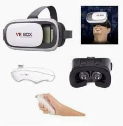 Óculos Realidade Virtual Aumentada 3d Com Controle(aceito cartao)