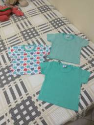 Conjunto 3 blusas bebê tamanho P