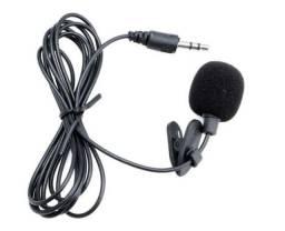 Título do anúncio: Mini Microfone de Lapela entrada P2, 3.5mm Stéreo Cabo de 1,5metros - Youtubers