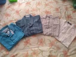 4 camisas Masculinas Seminovas