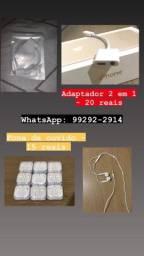 Fones de ouvido e adaptadores para iPhone