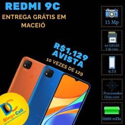 Xiaomi Redmi 9c caixa lacrada, 64 gigas, aceito cartão