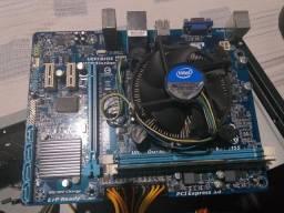 Placa mãe Gigabyte GA - H61MS1/ Cooler Intel E97379 - 001