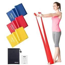 Kit 3 Faixas Elasticas Thera Band Fisioterapia