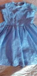 Vestido de festa azul tamanho G