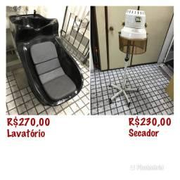 Vendo lavatório e secador