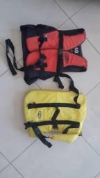 2 Coletes Salva-vidas (1 infantil e 1 para pet)
