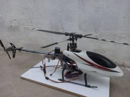 Helicóptero HK 450 + Rádio Turnigy 9X Original + Kit de Chaves Aling Trex Original