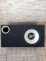 Caixa de som dutada com subwoofer de 10' + módulo Taramps