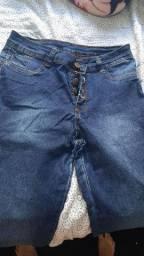 Short e calça jeans nunca usados